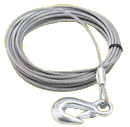 Western Mule Fold-A-Way Bumper Crane - Cable w/ Hook